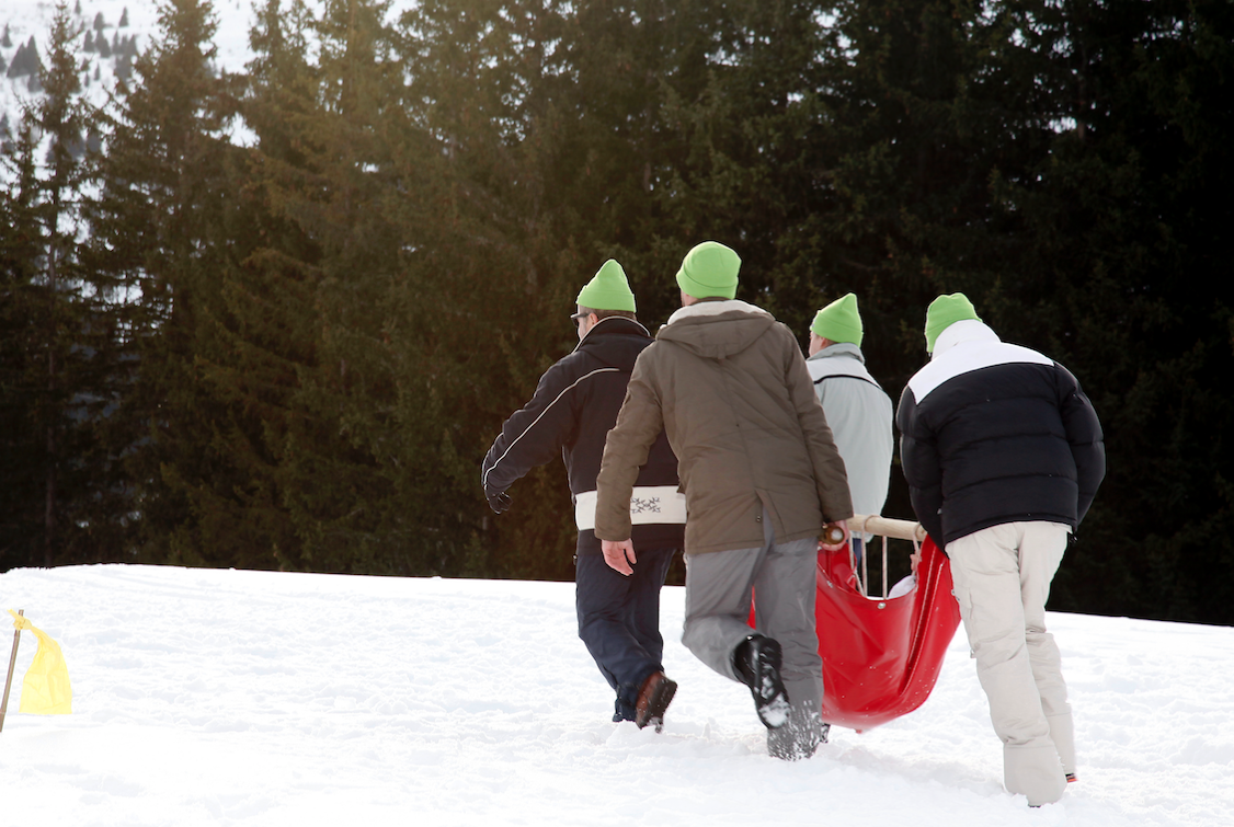 Team building, aventure, neige, snow game