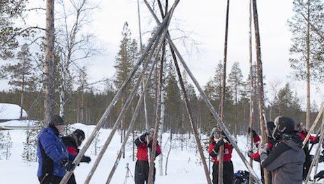 tipis, Incentive, Laponie, neige, team building